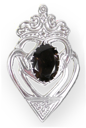 Luckenbooth Pin with Smoky Quartz