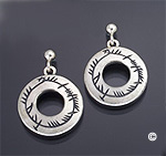 A Blessing on the Soul Earrings - Ogham
