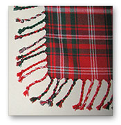 Hand-Twist (Purled) Fringe - Fly Plaid