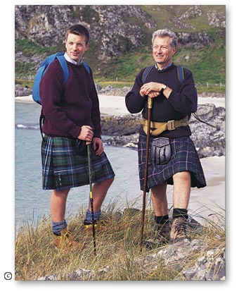 Kilts in Scottish Irish