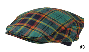 Irish County Antrim Tartan Cap Hat