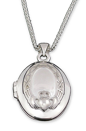 Claddagh Locket Necklace