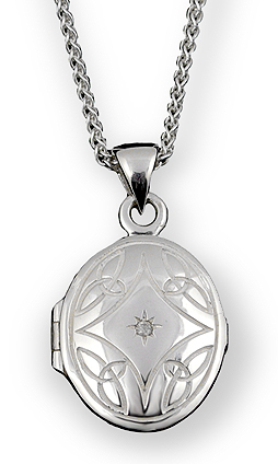 Celtic Knot Locket Necklace