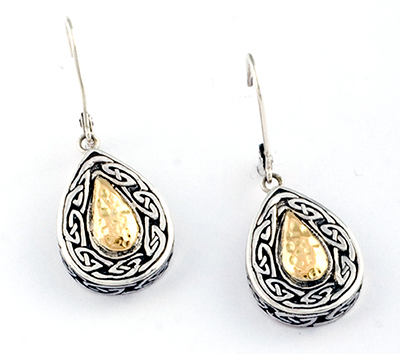 Celtic Knot Silver & Gold Earrings
