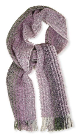 Cream Merino Cashmere Scarf - Handwoven in Ireland