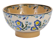Small Pottery Bowl Forget Me Not