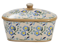 Forget Me Not Covered Butter Dish