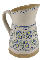 Forget Me Not Angled Jug