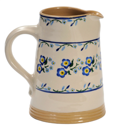 Forget Me Not Cylinder Jug