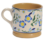 Small Mug Blue Flowers