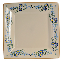 Forget Me Not Large Square Plate