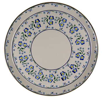 Forget-Me-Not Signed Platter
