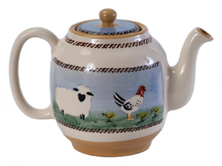 Teapot with Chickens
