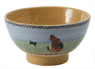 Nicholas Mosse Landscape Cat Small Bowl