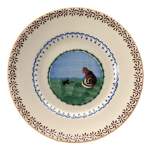 Nicholas Mosse Landscape Cat Lunch Plate