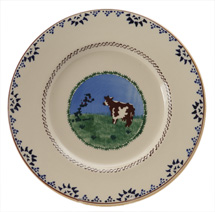 Nicholas Mosse Pottery Cow Lunch Plate