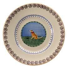 Nicholas Mosse Pottery Dog Lunch Plate