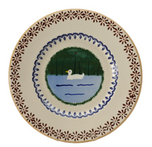 Nicholas Mosse Pottery Duck Lunch Plate