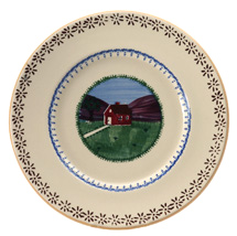 Nicholas Mosse Pottery Hen Lunch Plate
