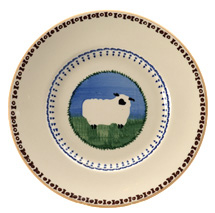 Nicholas Mosse Pottery Sheep Lunch Plate