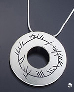 Ogham Language Necklace - A Blessing on the Soul