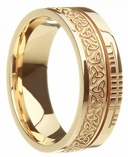 Yellow Gold Trinity Knot Wedding Band