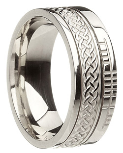Infinity Knot Faith White Gold Wedding Band