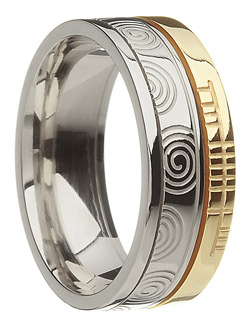 Irish Celtic Spiral Faith Wedding Ring