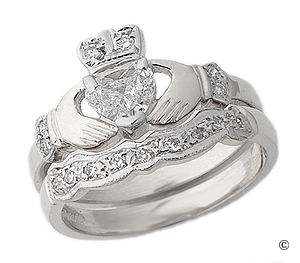 Diamond Claddagh Engagement Ring