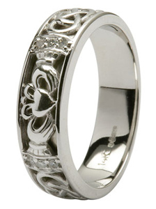 White Gold Claddagh Ring