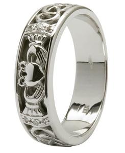 Delightful Claddagh Wedding Ring Mens Claddagh