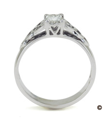 Princess Cut Celtic Knot Engagement  Wedding Ring Set Made in Ireland