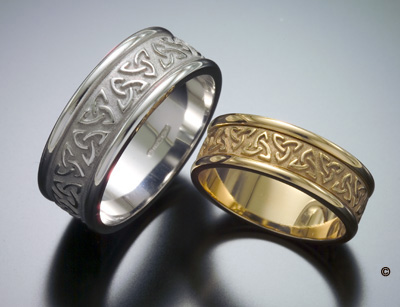 Trinity Knot Wedding Rings