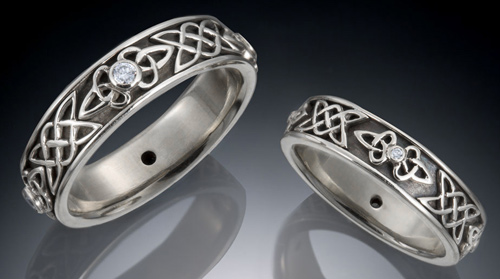 Diamond Knot Wedding Ring