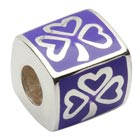 Purple Shamrock Charm