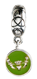 Green Claddagh Charm
