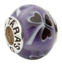 Purple Shamrock Bead