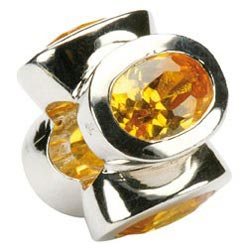 Topaz November Birthstone Charm