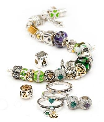 Irish Charm Bracelet Stacking Rings