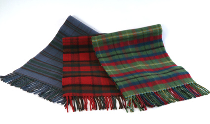 Irish Tartan Plaid Scarves