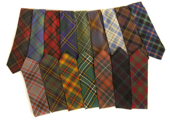 Irish County Tartan Neckties