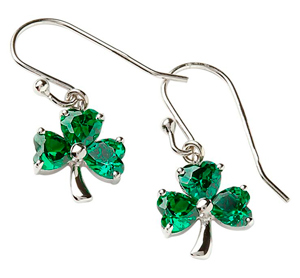Irish Shamrock Earrings