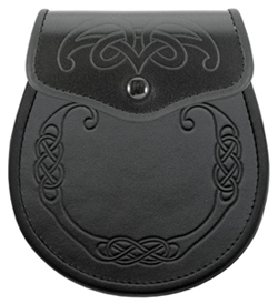 Embossed Leather Sporran on Sale
