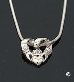 Claddagh Slide Loop Silver