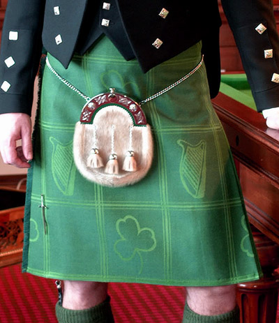 large cat irish kilt irish kilt irish kilt