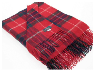 Fraser Red Tartan Throw
