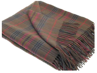 Kennedy Weathered Tartan Throw