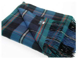 MacRae Hunting Ancient Tartan Throw