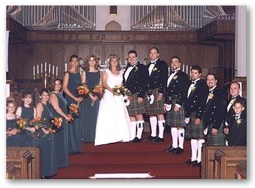 Neill WeddingFor this Irish wedding, we designed a new tartan for ...